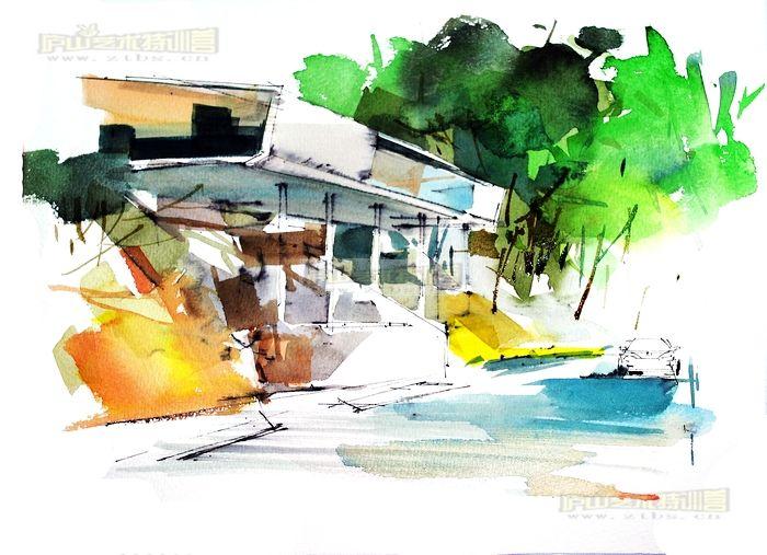 马克笔手绘室内作品_手绘|习作_空间/建筑_原创设计