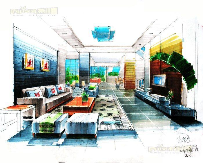 马克笔手绘效果图在室内设计中的运用与技巧