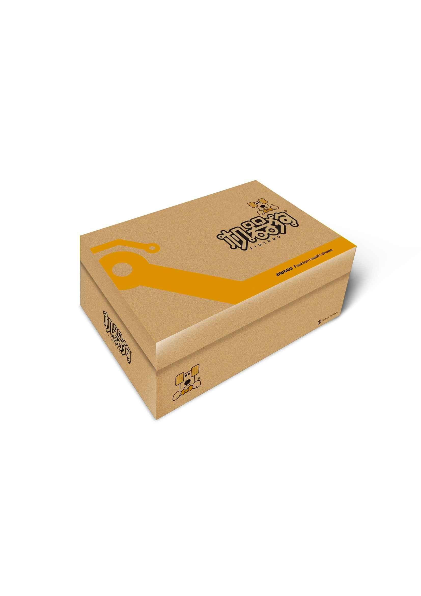 著名童鞋品牌机器狗服饰包装盒设计