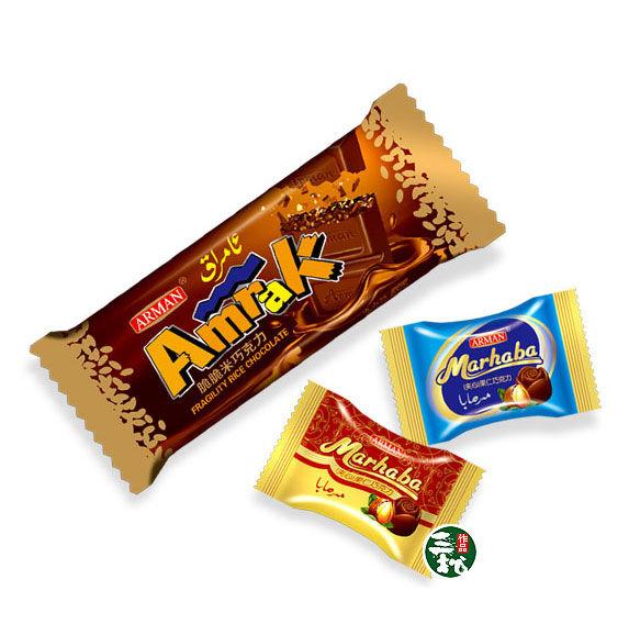 三松零食巧克力特产猪肉纸食品包装设计欣赏