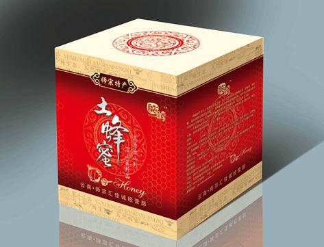 已经印刷的蜂蜜包装——云南土蜂蜜包装设计