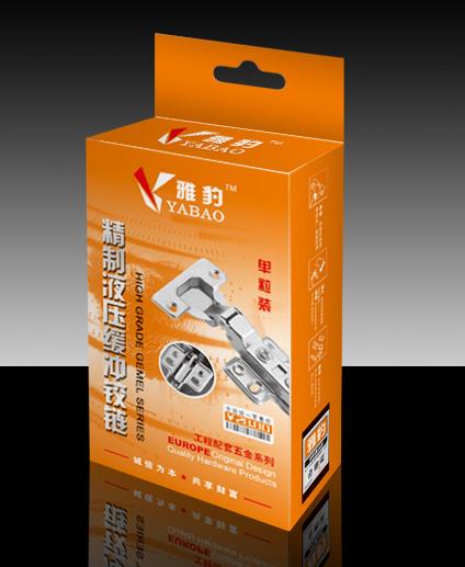 雅豹工业五金铰链包装盒设计