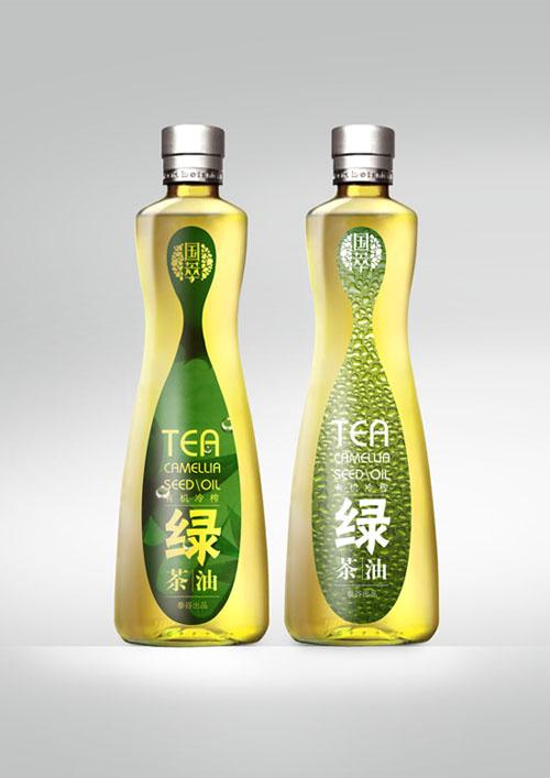 新出炉 绿茶油 食品特产包装设计 不足之处希望大家多多点评图片