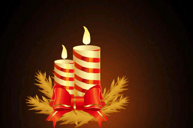 ps制作漂亮的圣诞蜡烛(蝴蝶结)