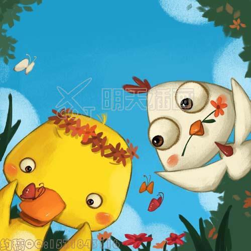 儿童绘本故事《小公鸡和小鸭子》