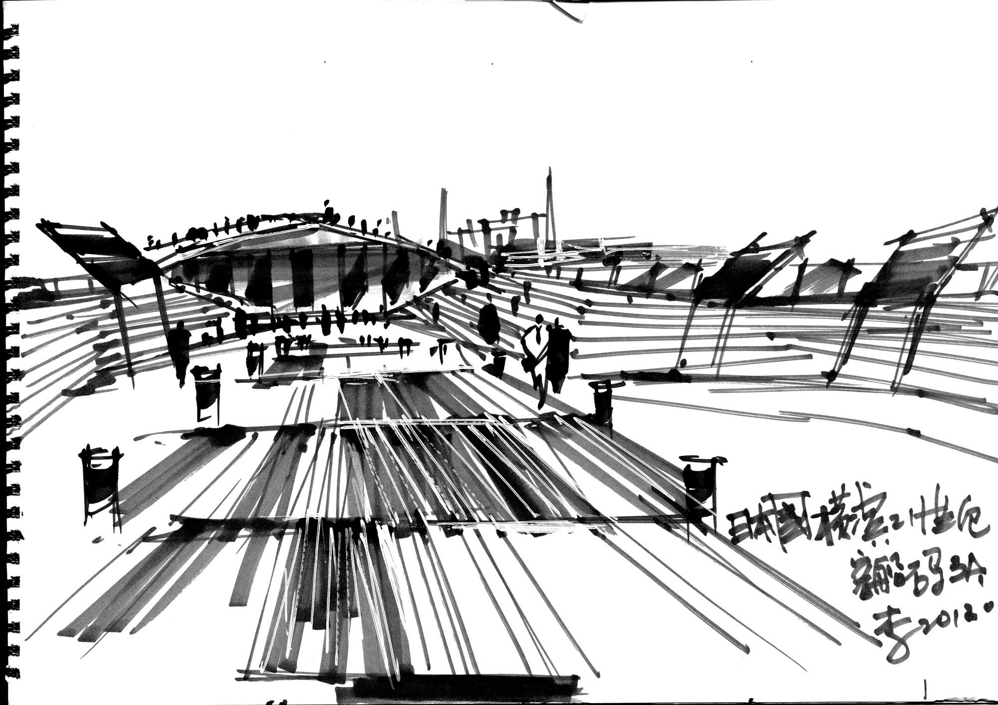 李文龙于日本手绘