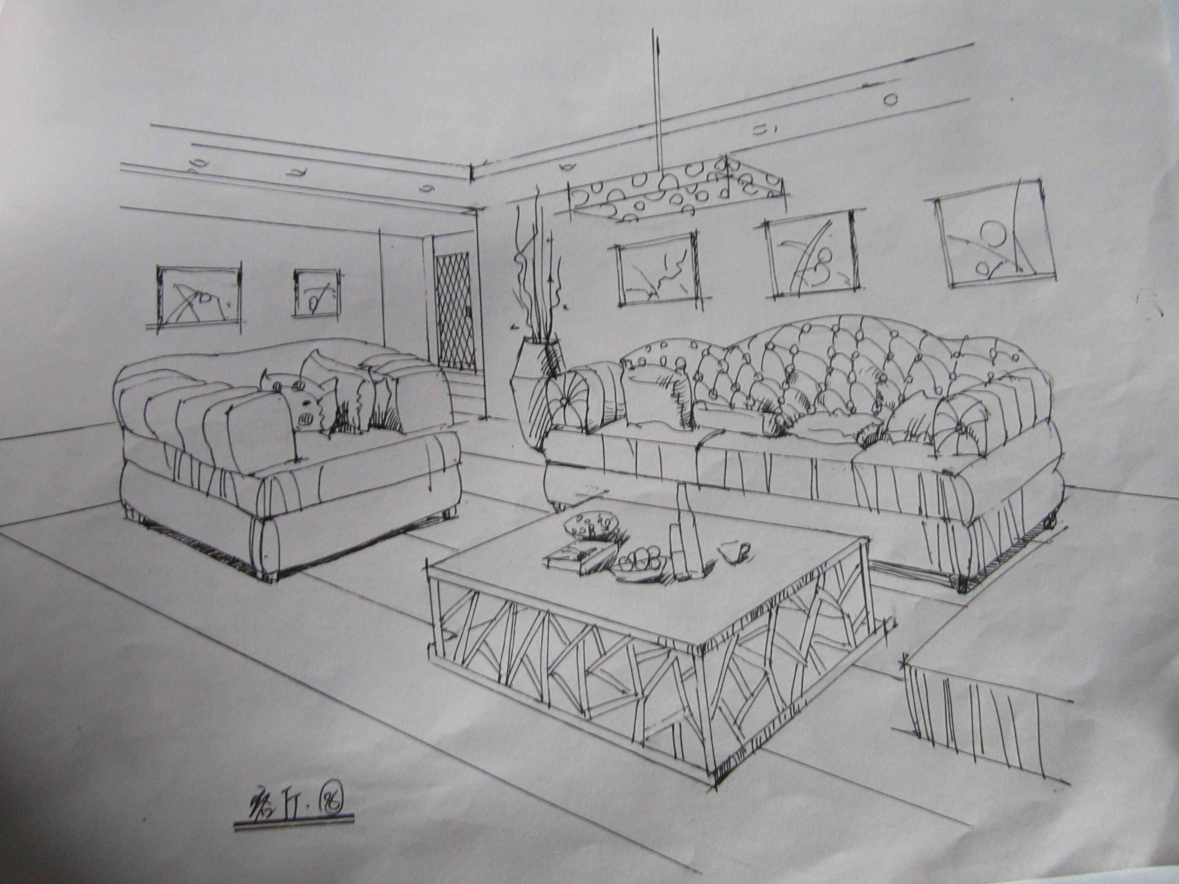 毕业做的第一套手绘方案