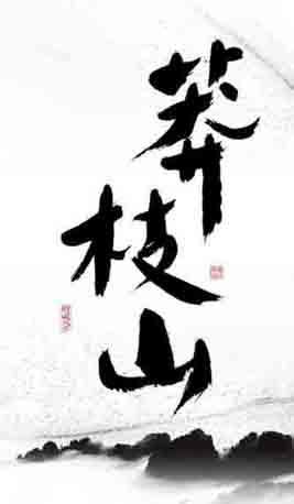 莽枝山 云南六大茶山之一 书法 普洱茶包装设计 新道设计 字体设计.jpg