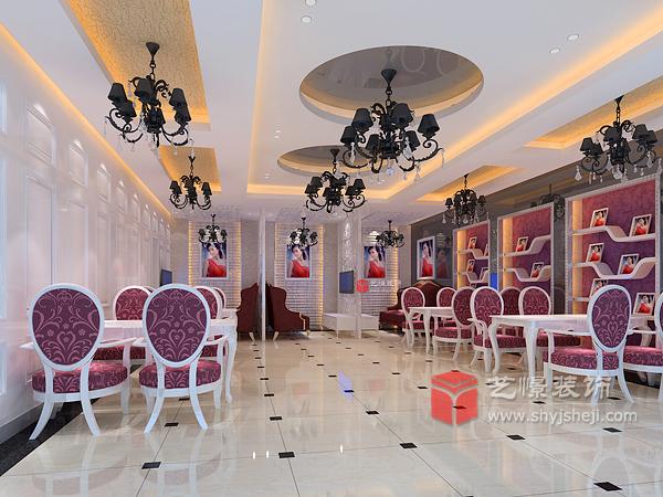 影楼装修设计修最终装饰效果造型优雅,室内空间装饰结构线