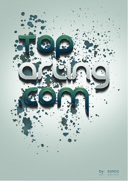 设计教程 photoshop教程 合成 修复 效果 03 ps制作水彩喷漆艺术字