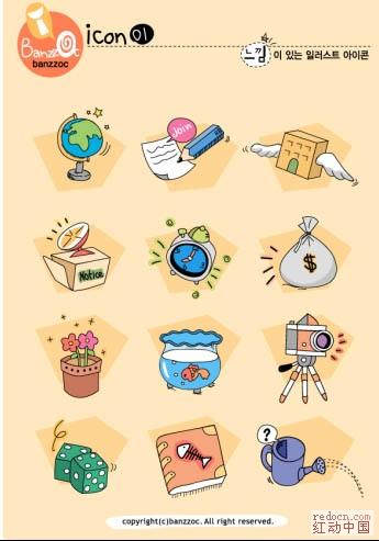 一套韩国的简笔画图画_矢量素材_素材下载_资讯娱乐