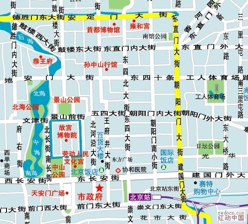 北京的矢量地图 也许你用得上