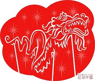03 中国传统新年彩色简笔画(舞狮,看灯~~~~~~~全部1个包)  舞龙4.