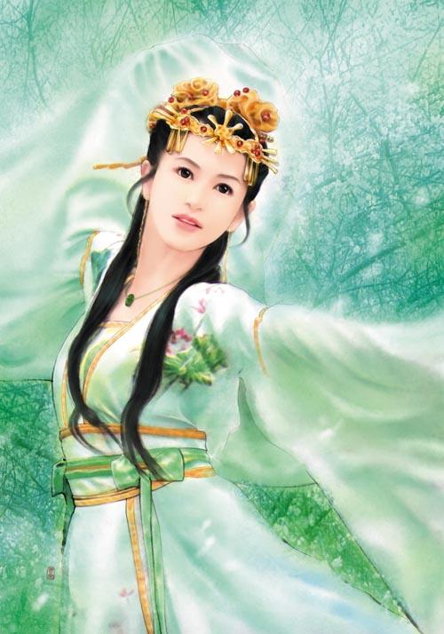 古典美人手绘女