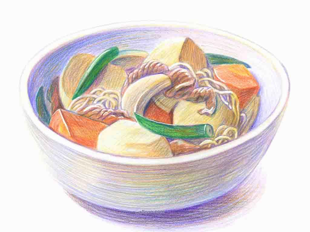 转贴 美食手绘图