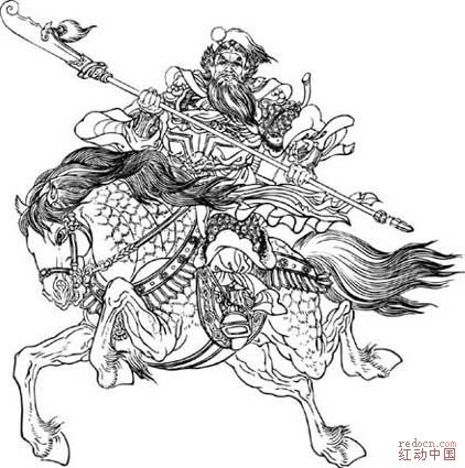 三国演义人物简笔画; 各种各样的人物头像简笔画; 三国演义人物之黄盖