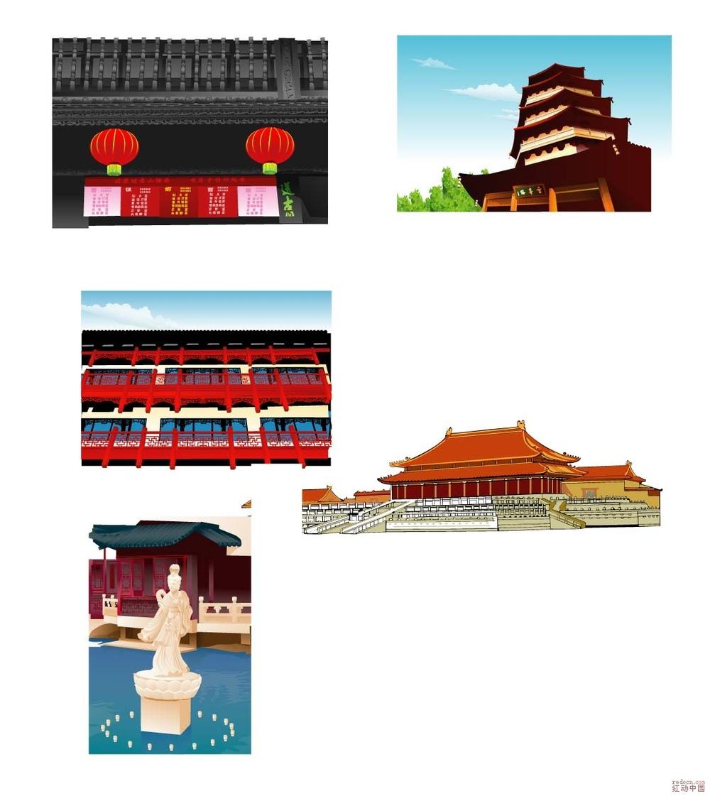 北京天安门;;; 北京建筑矢量图免费下载;;