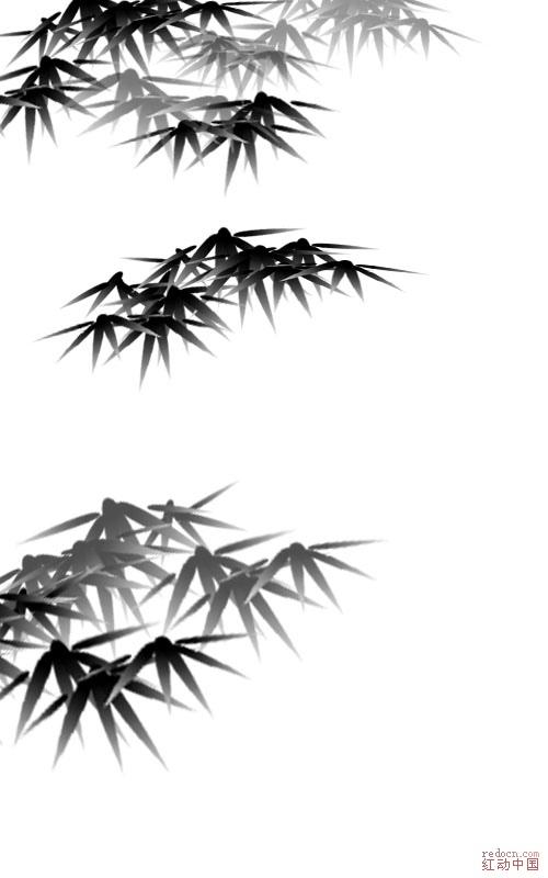 原创--怎么用ps画水墨竹子