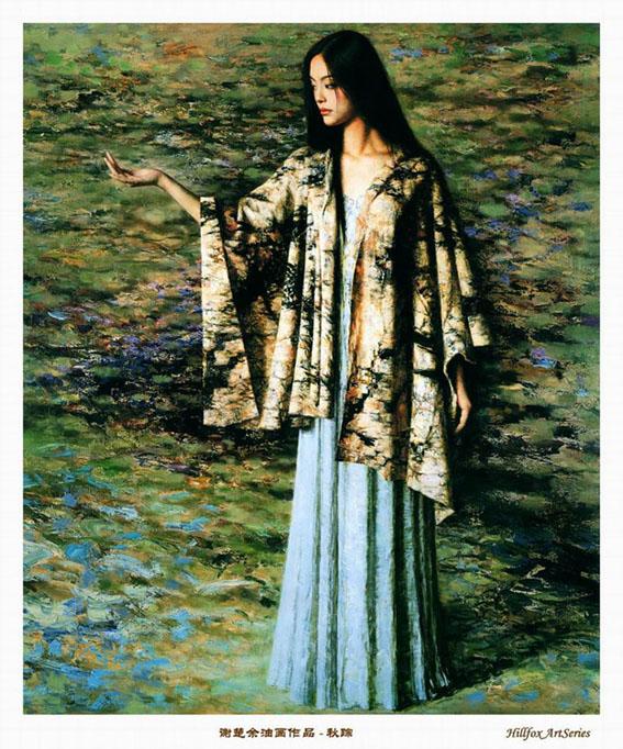 经典油画美女图 唯美贴图 第一设计网