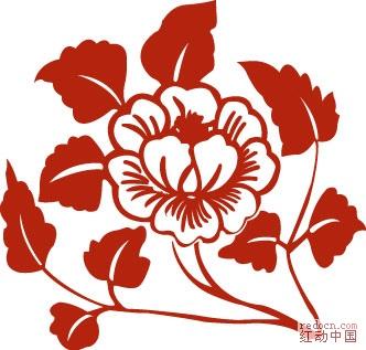 简单动物红花剪纸