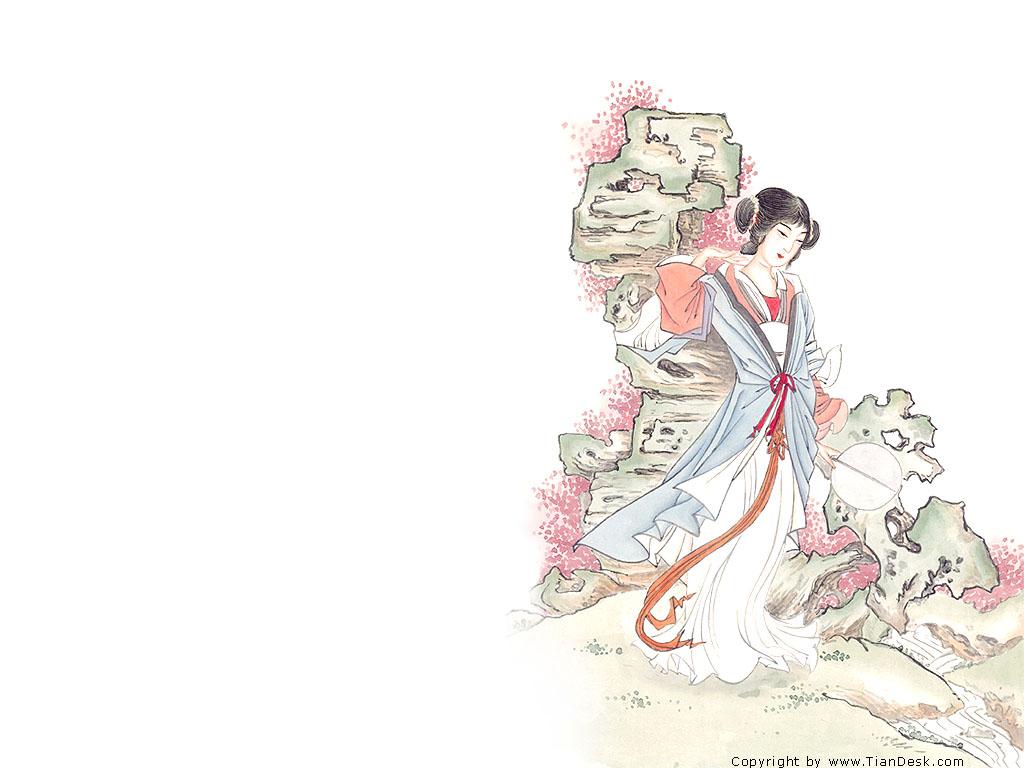 手绘图——古代美女