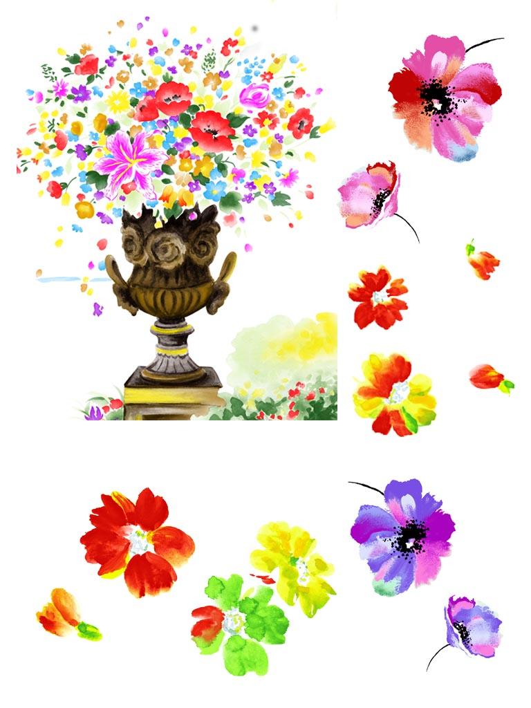 再次惊艳~~~韩国手绘水彩风格的花花哦~~~粉漂亮的