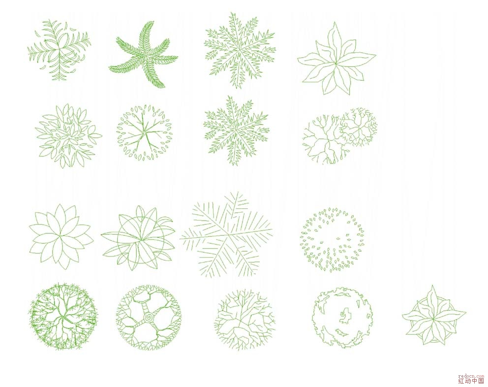 做户型图用的花花草草(矢量图)有ai格式和cdr格式