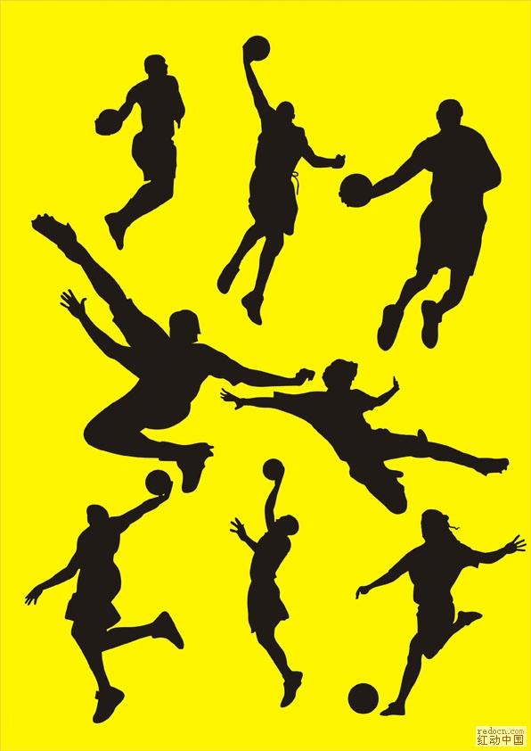 球类运动人物剪影_矢量素材_素材下载_资讯娱乐 第一