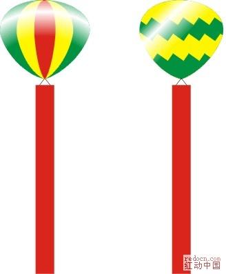 庆典用的氮气球_矢量素材
