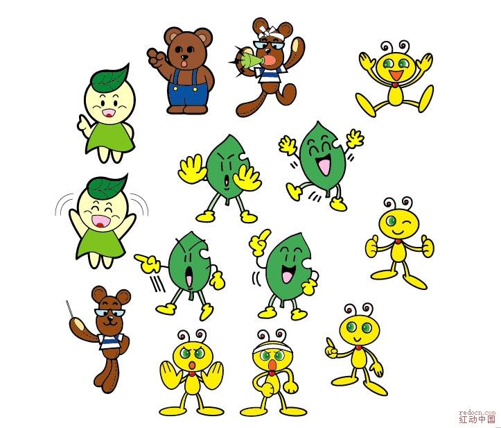【矢量】环保形象卡通精选!_矢量素材_素材下载_资讯