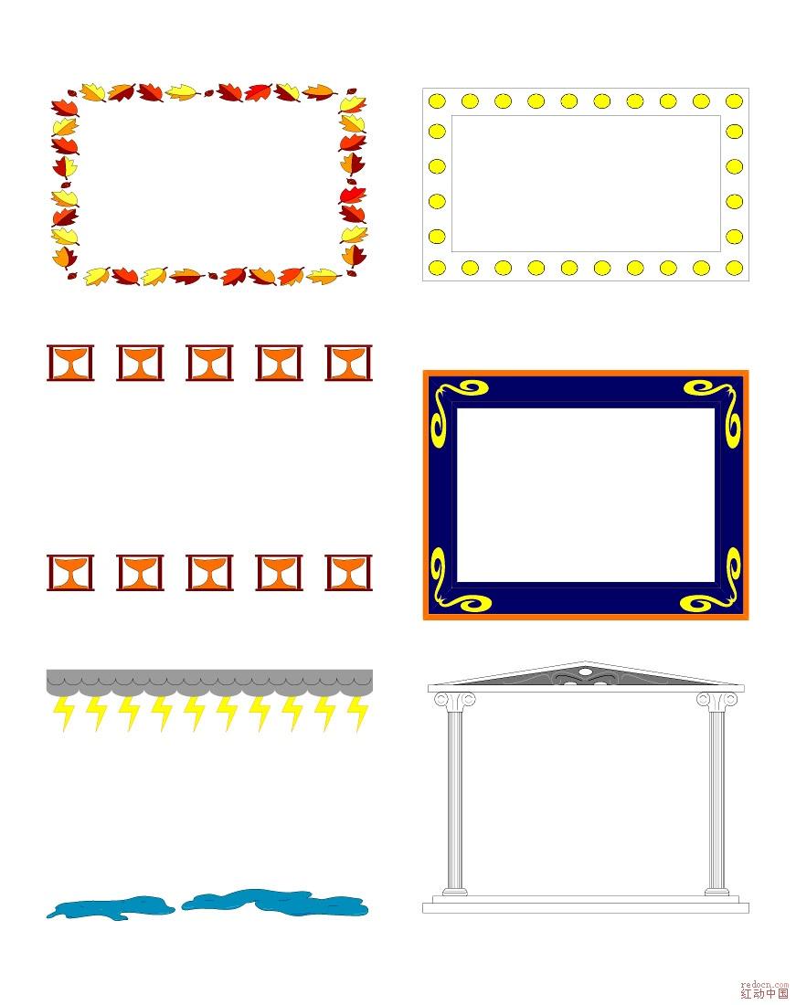 国外花边框大集合-边框线条-设计元素-矢量素材