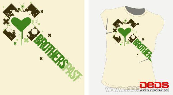 [手绘] ————100多款T恤图案设计——————-100多款T恤图案设计图片