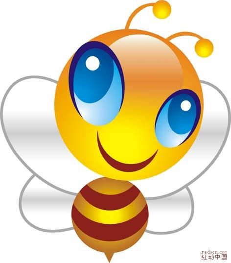 蜜蜂简单的画画图案