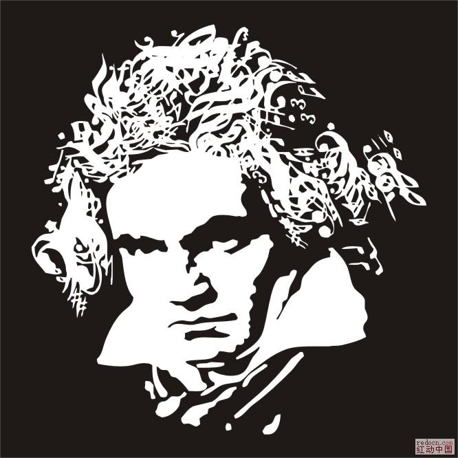 贝多芬头像_矢量素材_素材下载_资讯娱乐 专业设计网