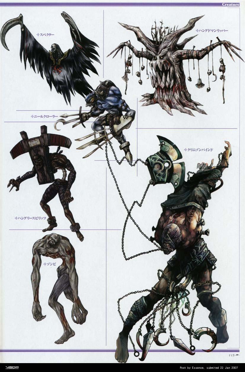[卡通世界] 【超级豪华】天堂2游戏原画设定.包括NPC、怪物、武器图片