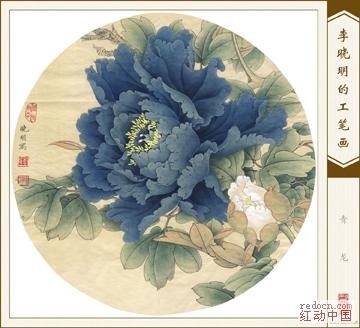 高清李晓明工笔画(收录其各时期作品:牡丹