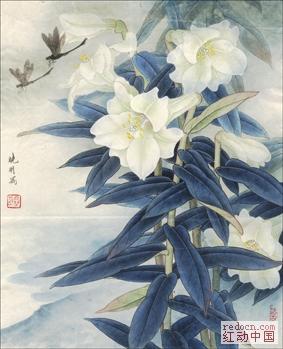 高清李曉明工筆畫(收錄其各時期作品:牡丹,蓮,花鳥.現
