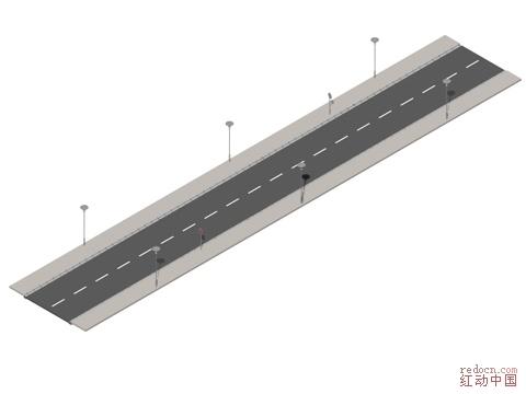 一些道路模型符贴图_3d素材(材质/模型/贴图/cad图库