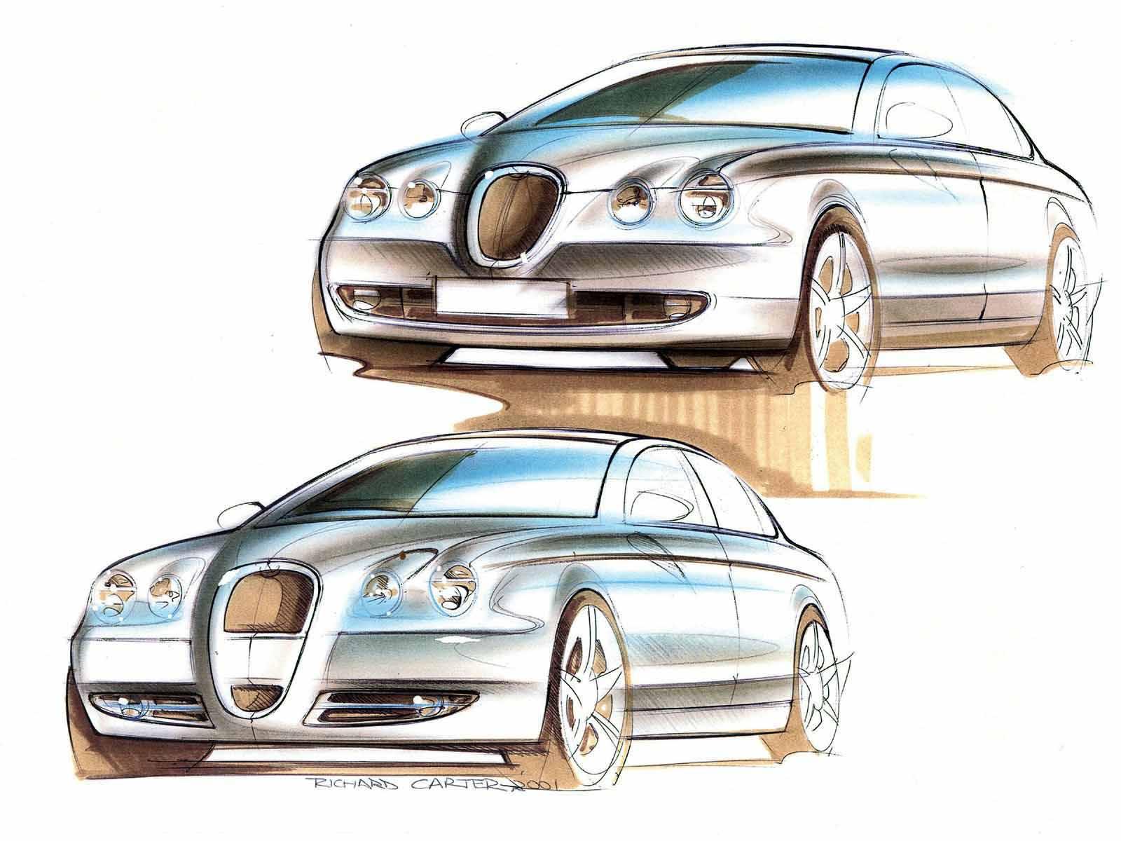 汽车手绘草图总汇 300多p 上传完毕 工业设计 产品设计 三