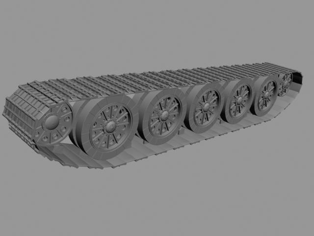 坦克履带制作_动画培训坦克履带制作