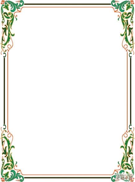 维多利亚风格和美术装饰边框