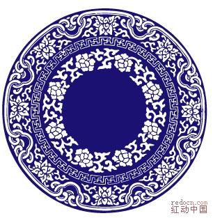 青花瓷器图案 花纹图案 -青花瓷器图案图片