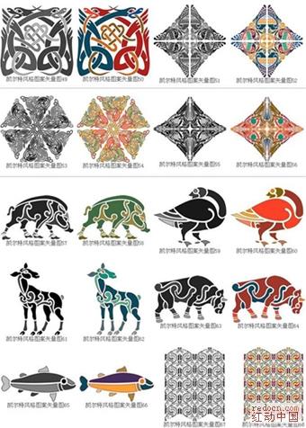 阿拉伯和凯尔特风格~精致装饰花纹图案