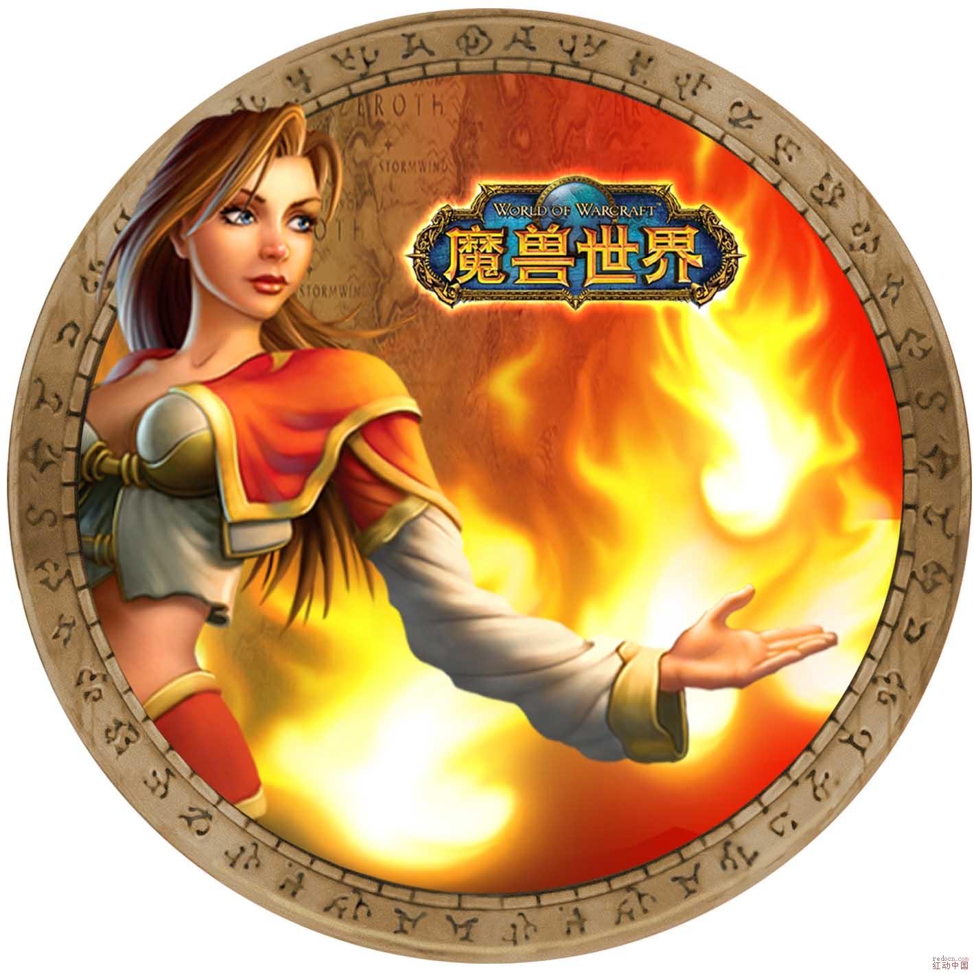 清晰的魔兽世界logo和魔兽游戏角色分层图