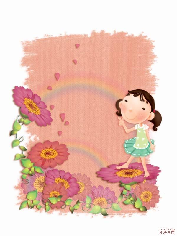 人物写真ps素材_卡通儿童相框