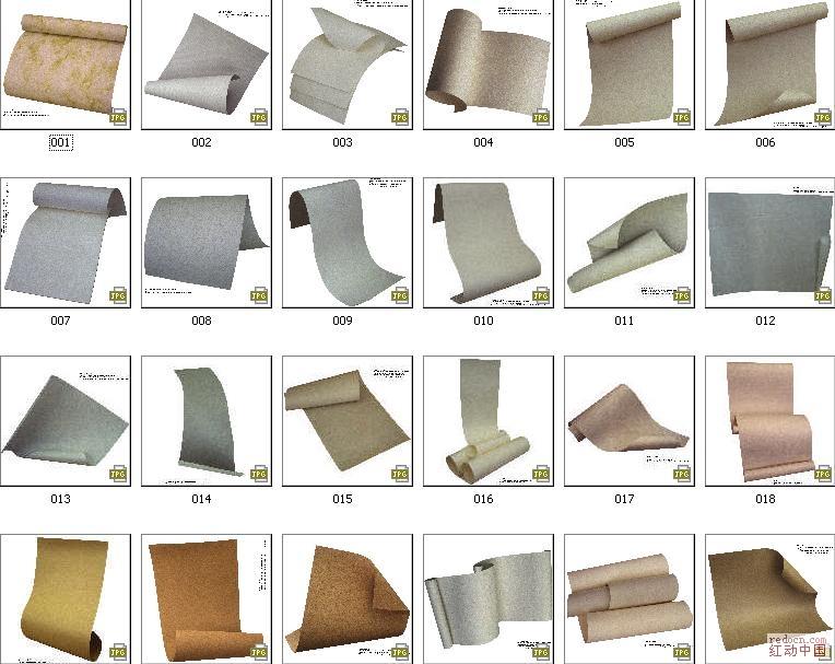 稀有纸张素材(牛皮纸-复古``等)