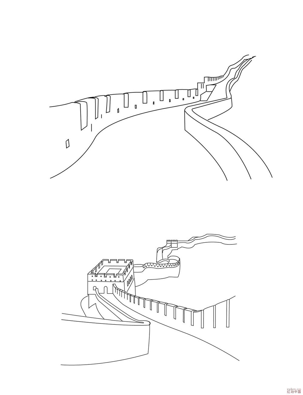 矢量长城(幸苦画的,有缺点多包涵)_矢量素材_素材下载