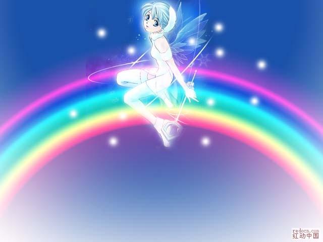 ps彩虹矢量图
