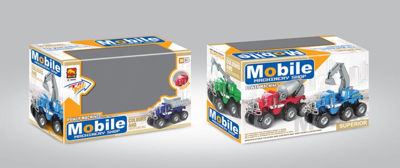 玩具工程车包装设计