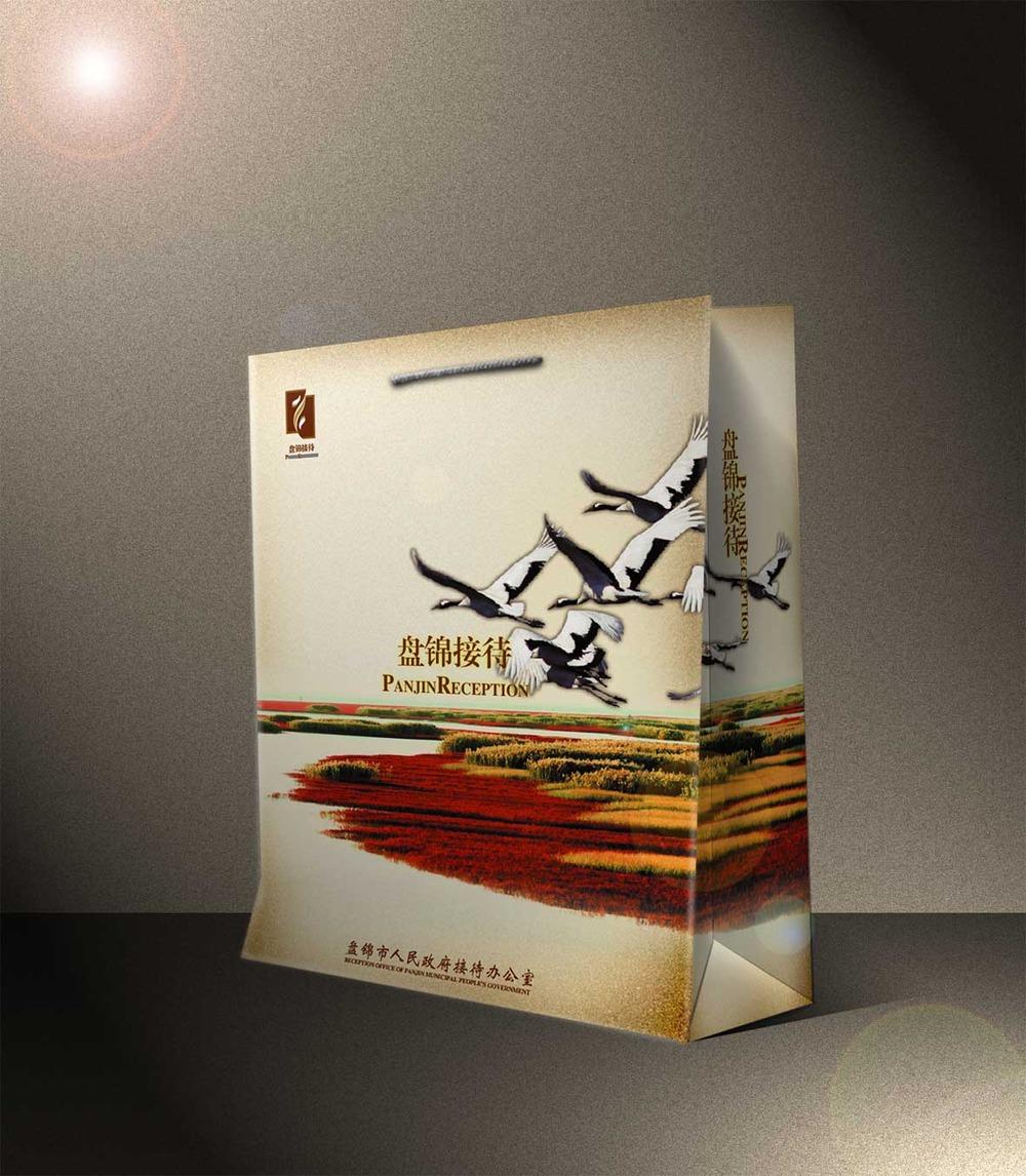 盘锦接待 手提袋 效果图 名片 卡片 平面 原创设计 第一设计网 全球人气